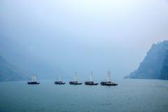 湖北八洞长江巫峡嘴链子Zixi航行 免版税库存照片