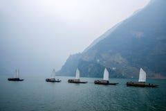 湖北八洞长江巫峡嘴链子Zixi航行 免版税图库摄影