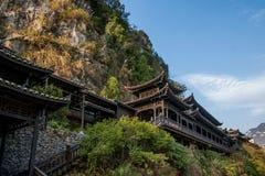 湖北夷陵长江三峡`三峡人`小河人民的Dengying夏 免版税库存照片