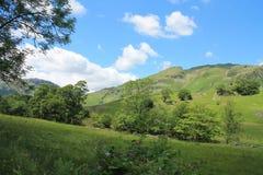 湖区国家公园一点Langdale Cumbria 库存图片
