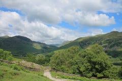 湖区国家公园一点Langdale Cumbria 图库摄影