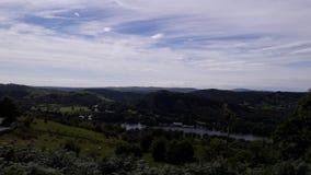 湖区的看法 库存图片