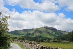 湖区风景一点Langdale Cumbria 免版税库存照片