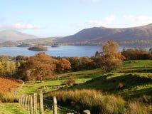 湖区, Cumbria,英国的美丽的景色 库存图片