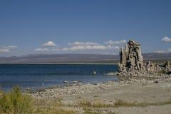 湖单音山内华达盐山脉 免版税图库摄影