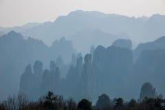 湖南天子山裕丰峰顶的张家界 库存图片