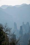 湖南天子山裕丰峰顶的张家界 免版税库存图片