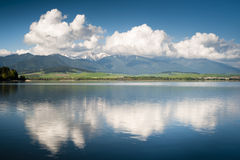 湖反映 库存图片