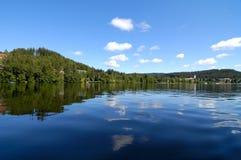 湖反映 库存照片