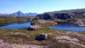 湖和地形 图库摄影
