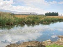 湖和天空在Perú 免版税图库摄影
