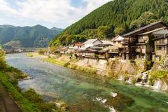 湖和山在日本 免版税库存照片