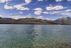 湖和山在蒙大拿 免版税库存图片