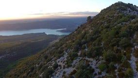 湖和山在阿尔卑斯 股票视频