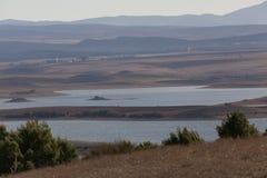 湖和山在Setif区域  免版税库存图片