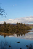 湖和森林 库存照片