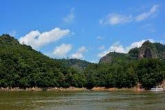 湖和游艇在福建,在中国南部 库存图片