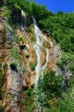 湖国家公园plitvice瀑布 库存照片