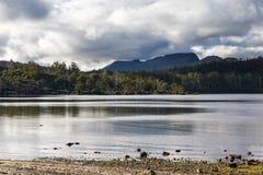湖圣克莱尔塔斯马尼亚岛 图库摄影