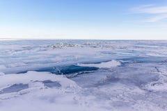 湖圣克莱尔,结冰 库存图片