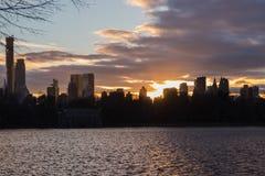 湖在中央公园纽约 蠢材 库存照片