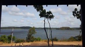 湖在乡下 库存图片