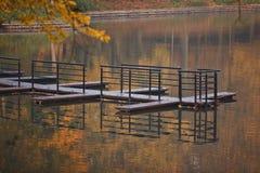 湖在公园,加里宁格勒 免版税库存图片
