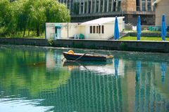 湖在公园 库存照片