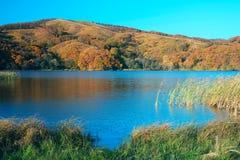 湖在夜间 免版税库存照片