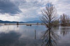 湖在希腊 免版税库存图片