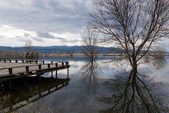 湖在希腊 免版税库存照片