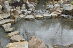 湖在庭院是深的并且准许游泳 图库摄影