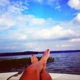 湖在弗吉尼亚 免版税图库摄影