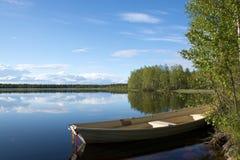 湖在拉普兰,芬兰 库存图片