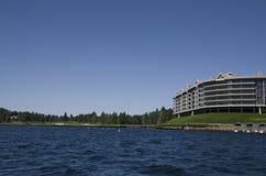 湖在斯波肯华盛顿附近的Coeur dAlene爱达荷 库存图片