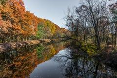 湖在新罕布什尔公园 图库摄影