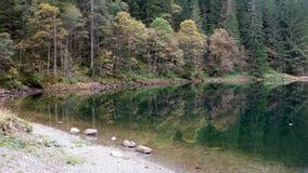 黑湖在施蒂里亚 免版税库存图片