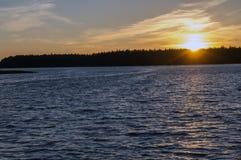 湖在森林里,波兰, Masuria, podlasie 库存图片