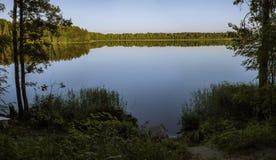 湖在欧洲 库存照片