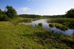 湖在波兰 库存照片