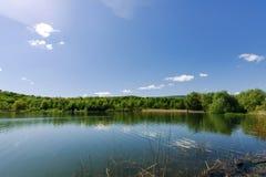湖在特鲁斯卡韦茨 利沃夫州地区 免版税库存图片