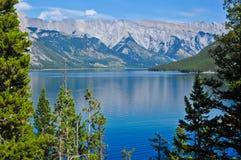 湖在班夫国家公园 库存图片