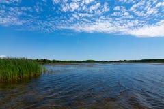 湖在理查发出当当声状态消遣地区 免版税库存照片