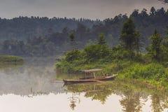 湖在苏加武眉的西楚Gunung 免版税图库摄影