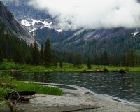 湖在阿拉斯加的原野 库存照片