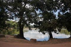 湖在吴哥柬埔寨 库存照片