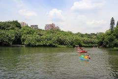 湖在yuexiu公园 免版税库存照片