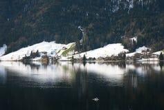 湖场面,瑞士 库存照片