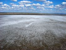 湖埃尔顿盐舱内甲板  库存图片