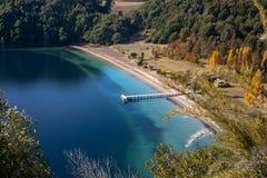 湖埃斯佩霍角重创的内乌肯省,阿根廷 库存照片